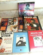 New listing Bruce Lee Lot of 5 Books & 4 Magazines Nice Assortment!