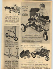 1965 PAPER AD Sears Trail Trac Pedal Car Tractor Murray Diesel Dump Trailer