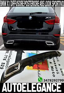 BMW X1 E84 DIFFUSORE SOTTO PARAURTI CON TERMINALI CROMATI ABS OVALI .-1-
