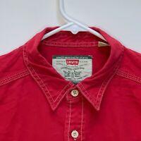 Levi's Mens Denim Shirt Red Large