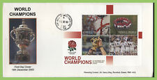 G.B. 2003 Rugby Champion M/S on Havering First Day Cover, The Ball, Widness cds
