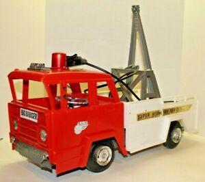 Vintage Marx Big Bruiser Super Highway Service Tow Truck Wrecker Plastic Remote