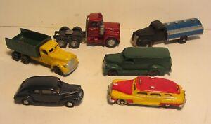 HO Vintage Cast Metal 1940's Vehicles 6 Different