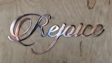 Rejoice Wall Art Sign Rustic Copper Patina