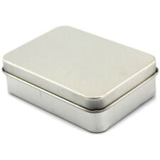 Metal Tin Tobacco Snuff Box Container Business Card Holder Storage Case Sow Kit
