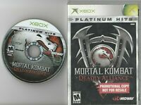 Mortal Kombat Deadly Alliance Microsoft Xbox Rare NFR Promotional Copy Game