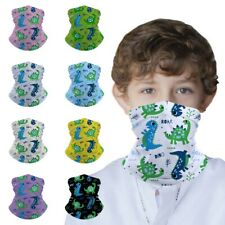 Kids Neck Gaiter Bandana Face Mask Tube Scarf Balaclava Headband Can Put Filter
