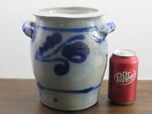 Antique Westerwald Salt Glaze Ceramic Stoneware w Blue Designs around 1920