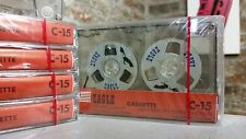 1 x  Vintage Retro Reel cassette tape sealed C15 blank for audio copy LAST EVER
