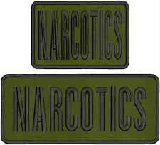 NARCOTICS embroidery patches 4x10 and 4x6  hook on back