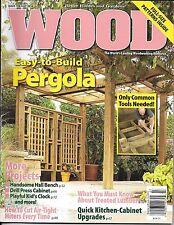 Wood magazine Pergola Hall bench Drill press cabinet Playful kids clock Miters