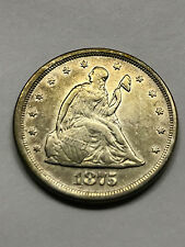 1875-S Twenty Cent Piece VF++ #2461
