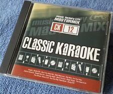 Karaoke cdg disque mastermix classics 12, pop hits, voir description 15 pistes/arts