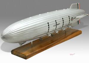 Airship USS ZRS-4 Akron ZRS4 Solid Kiln Dried Mahogany Wood Desktop Model
