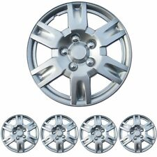 "4 PC Set 16"" Silver Hubcaps Wheel Cover OEM Replacement Skin ABS"