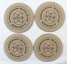 American Nuclear Society ANS Leather Coasters set of 4