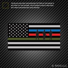 Thin Blue Line Flag Sticker Military Firefighter Police Sticker american flag