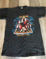 Vintage Def Leppard Size L Concert T-Shirt; 1988 Hysteria Tour