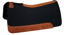 """7/8"""" BLACK Horse Contour Wool Felt Saddle Pad,30x30 from 5 Star Equine Products"""