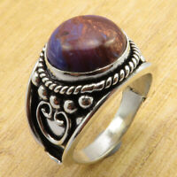 Ring 9.5 Size ! Genuine Purple Copper Turquoise LADIES' Silver Plated Jewellery