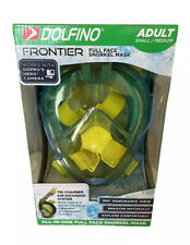 New listing Dolfino Frontier Full Face Snorkel Mask Adult Small/ Medium Works W GoPro NEW