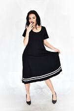 RALPH LAUREN Vestito Stile Casual In Cotone Nero TG M Donna Woman