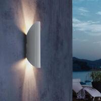 Außenwandleuchte LED Up und Down Light außen Wandlampe Fassade modern hell grau