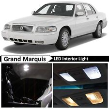 2003-2011 Grand Marquis White Interior + License Plate LED Lights Package Kit