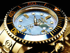 New Invicta Mens 300M Diamond Grand Diver Automatic Limited Ed. 18KGP SS Watch