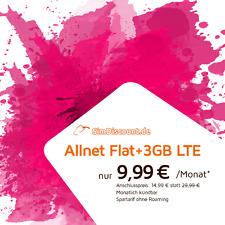 3GB LTE Internet +Allnet Flat für Telefon / SMS in alle dt. Netze [Mtl. kündbar]