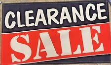 Clearance Sale Banner 3 x 5' Sign