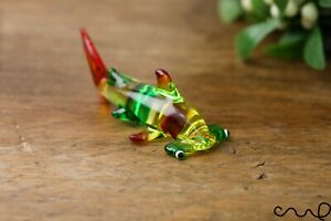 Handmade Green Little Glass Hammerhead Shark Gloss Garden Decor Ornament Gift