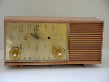 Vintage Philco Tube Alarm Clock/ Radio Model K778-124  for parts or repair