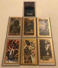 VERTIGO SET OF 6 GOLD FOIL CHASE CARDS 1994 AND DEATH SKYDISC CARD