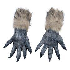 Wolf Hands Werewolf Gloves Halloween Furry Fancy Dress Costume Brown Fur NEW