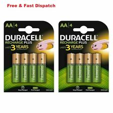 8 x Duracell AA 1300 mAh PRE/ STAY CHARGE Rechargeable Batteries NiMH