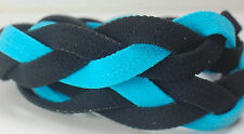Light Blue Black Braided Hair Band Head Under Sweaty Headband Armour Non Slip