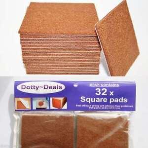 Felt Self Adhesive Pads Protects Wood Vinyl Laminate Floors Square Pack 32SQ