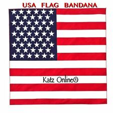 Estados Unidos Bandana Bandera Americana Pañuelo desgaste del cabezal Bandas Bufanda Cuello Muñeca Wrap pabellón B4