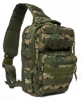 Military Style Conceal & Carry Rover Sling Backpack Woodlnd Digital Ambidextrous