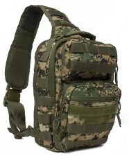 Military Style Conseal & Carry Rover Sling Backpack Woodlnd Digital Ambidextrous