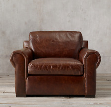 RESTORATION HARDWARE LEATHER LANCASTER CHAIR
