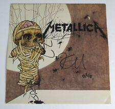 "METALLICA Signed Autograph ""One"" Album Vinyl LP by All 4 James Hetfield, Kirk+"