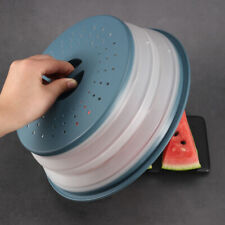 Plastic Microwave Plate Cover Collapsible Colander Strainer Storage Kitchen