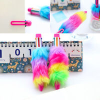 Gel Pen Ballpoint Colorful Plush Writing School Office Stationery Student Gift J