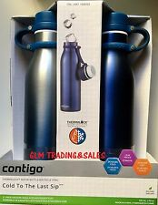 2x Avex by Contigo Vaccum Insulated Water Drink Bottle Mug Thermos BPAFree Blue