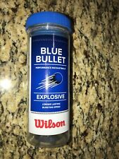 """Wilson Blue Bullet Racket balls """"3 Balls per Can"""""""