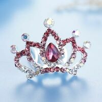 Mini Flower Crystal Tiaras Crown Hair Comb For Girls Hair Jewelry Headpiece