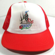Vintage Kentucky Derby Red Trucker Hat 116 May 5th 1990 Churchill Downs