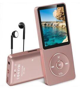 AGPTEK A02 8GB MP3 Player, 70h Playtime, Rose-Gold